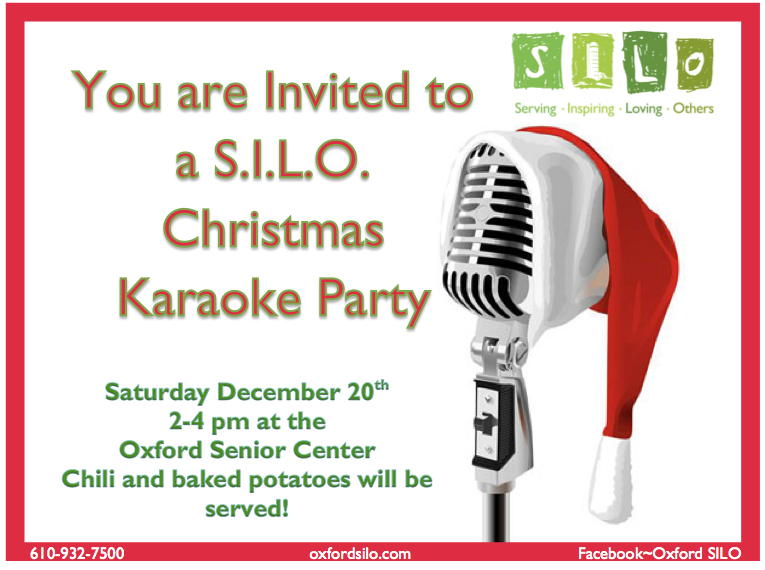 Christmas Karaoke Party December 20th 2 4pm Oxford Area